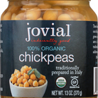 Jovial - Organic Chickpeas - Case of 6 - 13 oz.