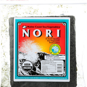 Maine Coast Organic Sea Vegetables - Sushi Nori Sheets - Toasted Chinese - 50 Sheets