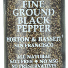 Morton and Bassett Seasoning - Pepper - Fine Ground - Black - 2 oz - Case of 3