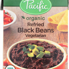 Pacific Natural Foods Refried Black Beans - Vegetarian - Case of 12 - 13.6 oz.