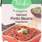 Pacific Natural Foods Refried Pinto Beans - Vegetarian - Case of 12 - 13.6 oz.