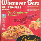 Pamela's Products - Oat Chocolate Chip Whenever Bars - Peanut Butter - Case of 6 - 1.41 oz.