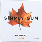 Simply Gum All Natural Gum - Maple - Case of 12 - 15 Count