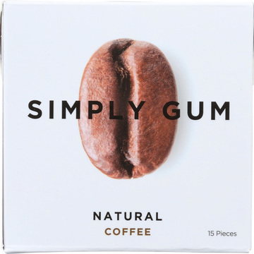 Simply Gum All Natural Gum - Coffee - Case of 12 - 15 Count