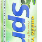 Spry Xylitol Gum - Green Tea - Case of 6 - 30 Count