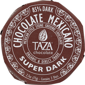Taza Chocolate Organic Chocolate Mexicano Discs - Super Dark - Case of 12 - 2.7 oz.