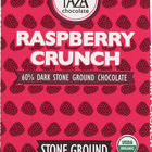 Taza Chocolate Stone Ground Organic Dark Chocolate Bar - Raspberry Crunch - Case of 10 - 2.5 oz.