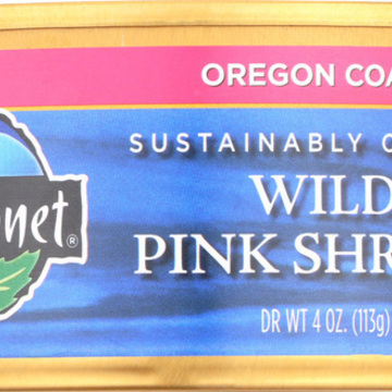 Wild Planet Wild Pink Shrimp - No Salt Added - Case of 12 - 4 oz.