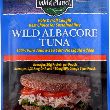 Wild Planet Wild Albacore Tuna - Pouch - Case of 12 - 3 oz.
