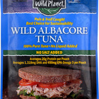 Wild Planet Wild Albacore Tuna - No Salt Added - Case of 12 - 3 oz.