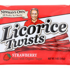Newman's Own Organics Sour Licorice Twists - Strawberry - Case of 15 - 5 oz.