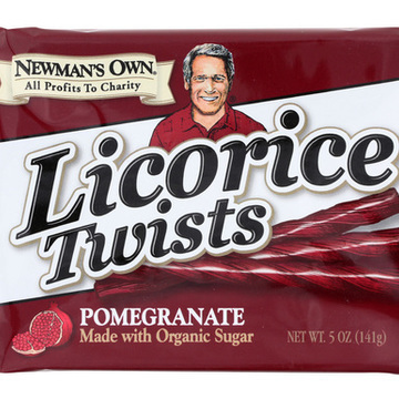 Newman's Own Organics Licorice Twists - Pomegranate - Case of 15 - 5 oz.