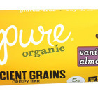 Pure Organic Ancient Grains Bar - Organic - Vanilla Almond - 1.23 oz Bars - Case of 12