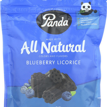 Panda All Natural Licorice Soft Chews - Blueberry - Case of 12 - 7 oz.