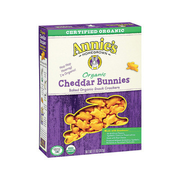 Annie's Homegrown Organic Cheddar Bunnies Baked Snack Crackers - Case of 12 - 11 oz.