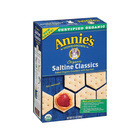 Annie's Homegrown Organic Saltine Classic Crackers - Case of 12 - 6.5 oz.