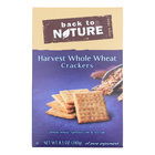 Back To Nature Harvest Whole Wheat Crackers - Whole Wheat, Safflower Oil and Sea Salt - Case of 12 - 8.5 oz.