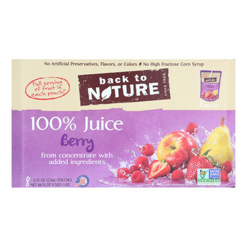 Back To Nature Juice - Berry - Case of 5 - 6 Fl oz.