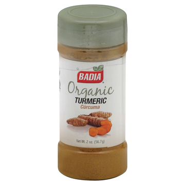 Badia Spices - Organic Turmeric - Case of 12 - 2 oz.
