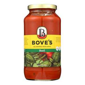 Bove's of Vermont - Pasta Sauce - Basil - Case of 6 - 24 Fl oz.