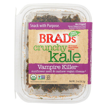 Brad's Raw Foods Crunchy Kale - Vampire Killer - Case of 6 - 2 oz.