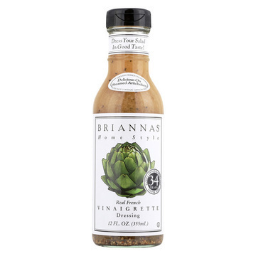 Brianna's Vinaigrette Dressing - Real French - Case of 6 - 12 Fl oz.