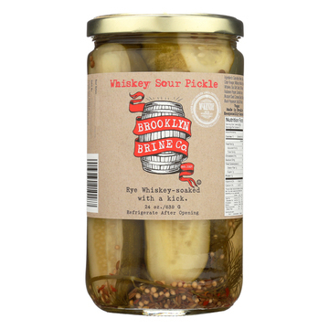 Brooklyn Brine - Pickles - Whiskey Sour - Case of 12 - 24 oz.