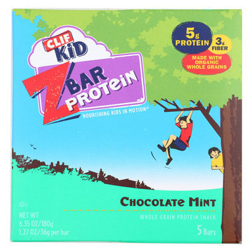 Clif Kid Zbar Organic Kid Zbar Protein - Chocolate Mint - Case of 6 - 1.27 oz.