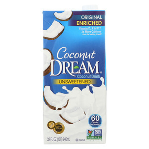 Coconut Dream - Enriched Coconut Drink - Original Unsweetened - Case of 12 - 32 Fl oz.