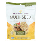 Crunchmaster Multi-Seed Crackers - Rosemary and Olive Oil - Case of 12 - 4.5 oz.
