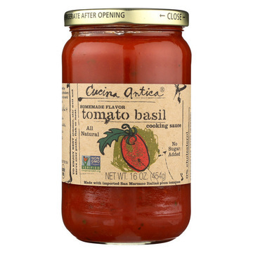 Cucina Antica - Tomato Basil Cooking Sauce - Case of 12 - 16 FL oz.