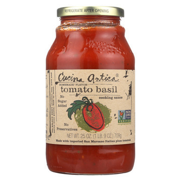 Cucina Antica - Tomato Basil Cooking Sauce - Case of 12 - 25 oz.