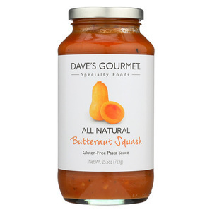 Dave's Gourmet - Butternut Squash Pasta Sauce - Case of 6 - 25.5 oz.