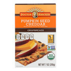 Doctor Kracker Pumpkin Seed Cheddar Crispbreads - Case of 6 - 7 oz.