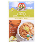 Dr. McDougall's Thick Cut Organic Milled Flax Apple Oatmeal - Case of 8 - 8.4 oz.