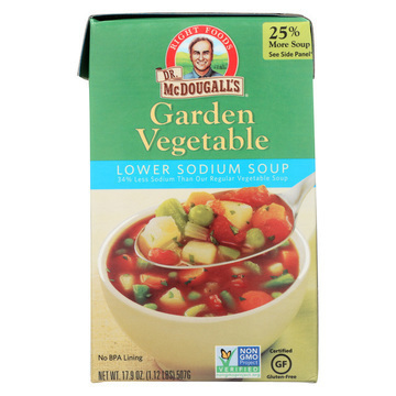 Dr. McDougall's Garden Vegetable Lower Sodium Soup - Case of 6 - 17.9 oz.
