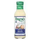 Drews All Natural Creamy Ranch Dressing and Quick Marinade - Case of 6 - 12 FL oz.