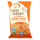 Earth Balance Vegan Kettle Chips - Cheddar - Case of 12 - 5 oz.
