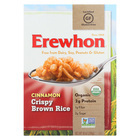 Erewhon Organic Crispy Brown Rice Cereal - Cinnamon - Case of 12 - 10 oz.