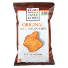 Food Should Taste Good Sweet Potato Tortilla Chips - Sweet Potato - Case of 12 - 4.5 oz.