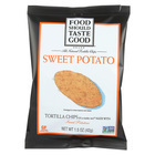 Food Should Taste Good Sweet Potato Tortilla Chips - Sweet Potato - Case of 24 - 1.5 oz.
