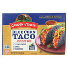 Garden of Eatin' Blue Corn Taco Dinner Kit - Blue Corn - Case of 12 - 9.4 oz.