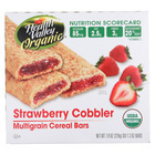 Health Valley Organic Multigrain Cereal Bars - Strawberry Cobbler - Case of 6 - 7.9 oz.