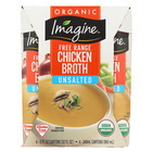 Imagine Foods Chicken Broth - Low Sodium - Case of 6 - 8 Fl oz.