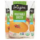 Imagine Foods Vegetable Broth - Low Sodium - Case of 6 - 8 Fl oz.