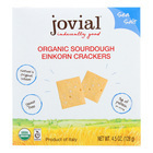 Jovial - Sourdough Einkorn Crackers - Sea Salt - Case of 10 - 4.5 oz.