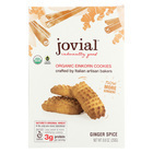 Jovial Einkorn Cookies - Ginger Spice - Case of 12 - 8.8 oz.