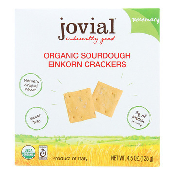 Jovial - Sourdough Einkorn Crackers - Rosemary - Case of 10 - 4.5 oz.