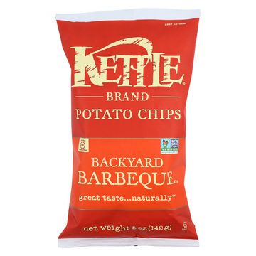 Kettle Brand Potato Chips - Backyard Barbeque - Case of 15 - 5 oz.