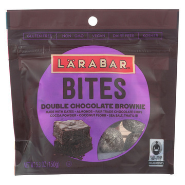Larabar Bites - Double Chocolate Brownie - Case of 6 - 5.3 oz.